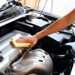pulizia motore auto